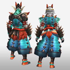 FrontierGen-Inari G Armor (Blademaster) (Back) Render