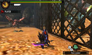 MH4U-Azure Rathalos and Pink Rathian Screenshot 001