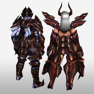 FrontierGen-Deyuru Armor (Both) (Back) Render