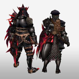 FrontierGen-Rirusu Armor (Gunner) (Back) Render
