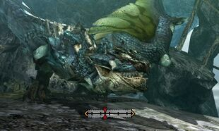 MH4U-Azure Rathalos Head Break 002