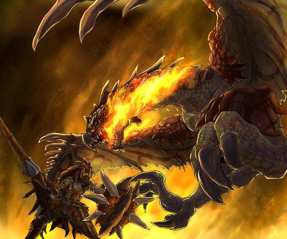File:Fire force Battling Rathalos by NewRoyalDragon.jpg