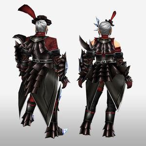 FrontierGen-Akura G Armor (Gunner) (Back) Render