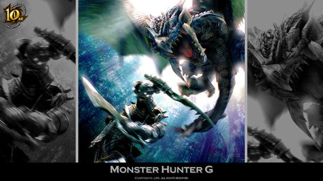 File:MH 10th Anniversary-Monster Hunter G Wallpaper 001.jpg