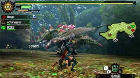 Monster Hunter 4 - Mysterious Forest Quest Crystal Basarios