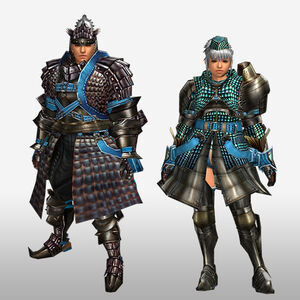 FrontierGen-Velociprey G Armor (Blademaster) (Front) Render