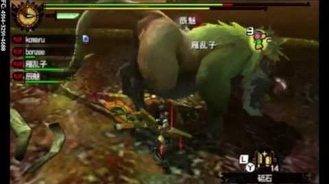 MH4G - G★1 - ババコンガ亜種 Emerald Congalala