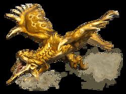MHP3-Gold Rathian Render 001