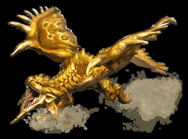File:MHP3-Gold Rathian Render 001.png