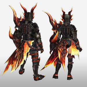FrontierGen-Barukan G Armor (Gunner) (Back) Render