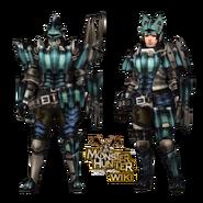 MH3U Barroth U Armor Gunner