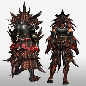FrontierGen-Reusu G Armor (Blademaster) (Back) Render