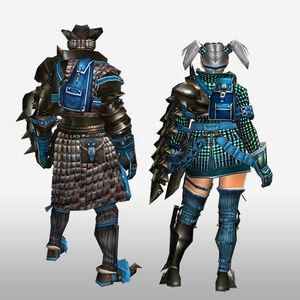 FrontierGen-Velociprey G Armor (Gunner) (Back) Render