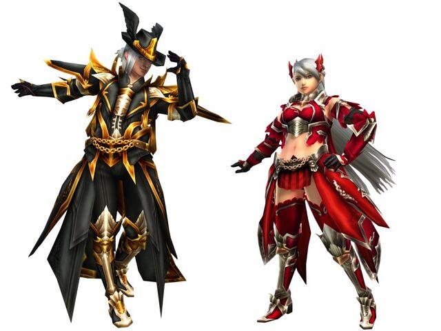 File:FrontierGen-Moonlit Gun Prodigy and Crimson Bow Demon Armor (Both) Render 2.jpg