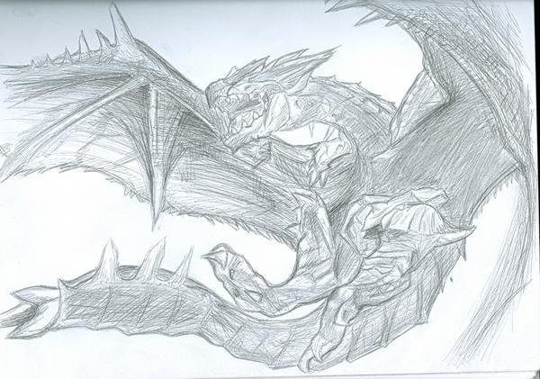 File:Rathalos Sketch.jpg