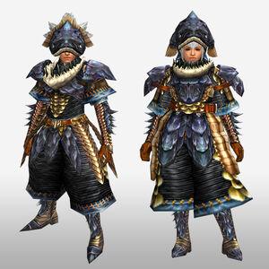 FrontierGen-Lava G Armor (Blademaster) (Front) Render