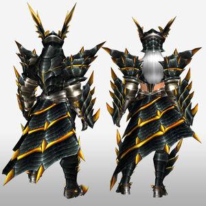 FrontierGen-Meragi Armor (Blademaster) (Back) Render