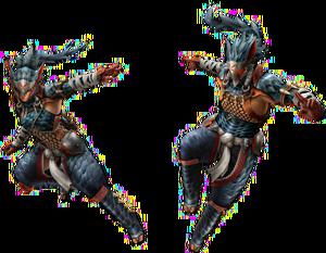 FrontierGen-Naruga Armor (Blademaster) Render 2