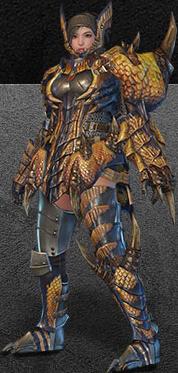 File:MHO-Tigrex Armor (Gunner) (Female) Render 001.png