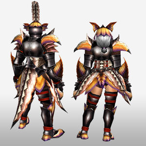 FrontierGen-Paria G Armor (Blademaster) (Back) Render