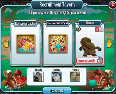 Recruitment tavern rewards