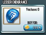 Lesser endurance rune