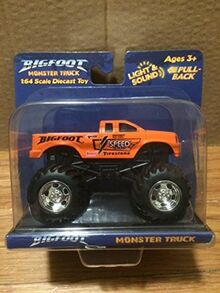 Toy-state-big-foot-monster-truck-orange-by-toystate