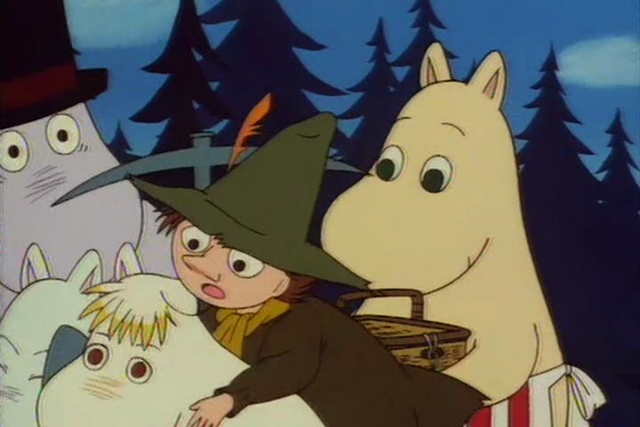 File:Moominmamma overturns Moominpappa, Snufkin, Snork Maiden and Moomin.png