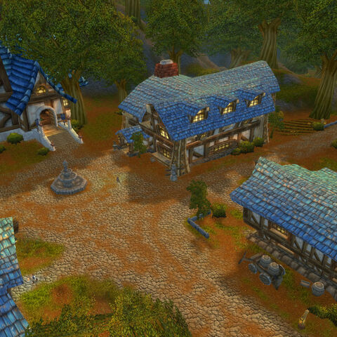 The town of Grand Hamlet, before it was renamed Darkshire after the <a href=
