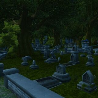The Stormwind Cemetery.