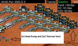 MoonBase Inc Heat Pump and Thermal Vent