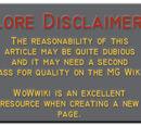 Lore Disclaimer