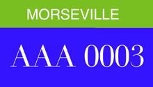 MorsevilleLicensePlate