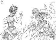Dullahan vs Tanya by skwang-dal9q8y