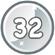 Level 32 icon