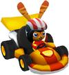 Moshi Karts helmet stars 'n' stripes