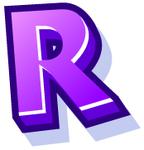 WallScrawl Alphabet - R