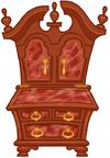 Antique Isle Cabinet
