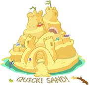 Bleurgh Beach sandcastle