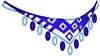 Patterned Blue Shawl