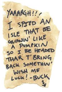 Buck Note Halloween Island