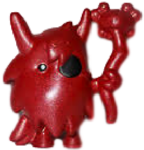 Big Bad Bill figure bauble red