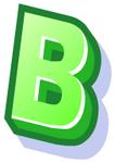 WallScrawl Alphabet - B