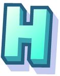 WallScrawl Alphabet - H