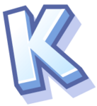 WallScrawl Alphabet - K