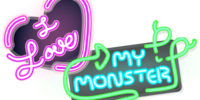 Love My Monster Neon Sign