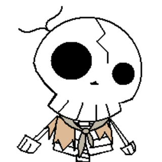 The mildly undead Oliver, kept alive by his need to seek revenge on The Boy