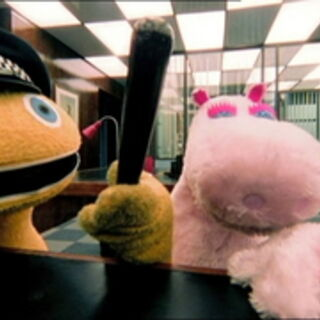Zippy and George at the police station.