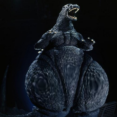 THUNDER-THIGHS MOGEGOJI!!!!!!!!!!!!!!!! Circa 2013-2015... related to Facebook. I was commenting on how fuggin fat Heisei Goji was when everyone was complaining that Godzilla 2014 was