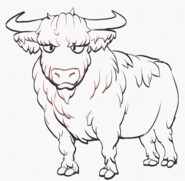 Bull solid outline